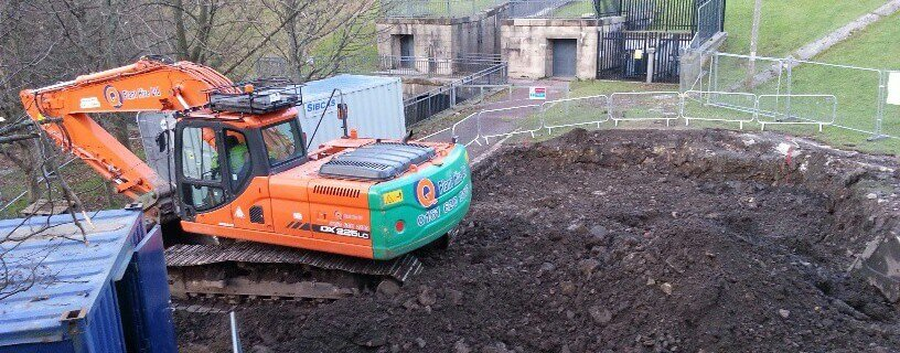 renewables first - -excavation work commences for saddleworth community hydro scheme