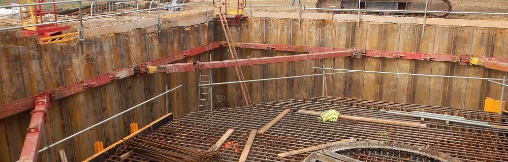 Wind turbine foundations underway at Blacktoft