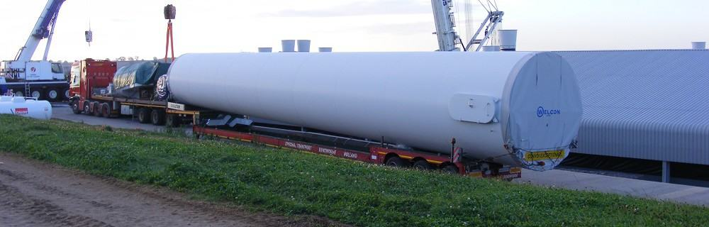Installing the lower wind turbine tower section