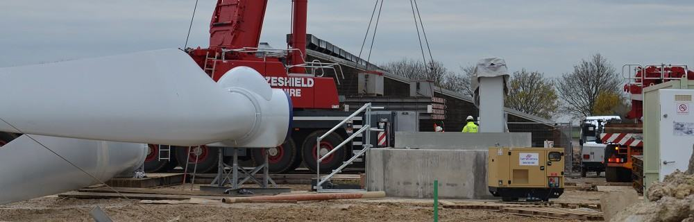 EWT DW54 500 kW turbine for Hibaldstow Farm