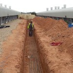 Baulker Farm Cable trench at Baulker Farm
