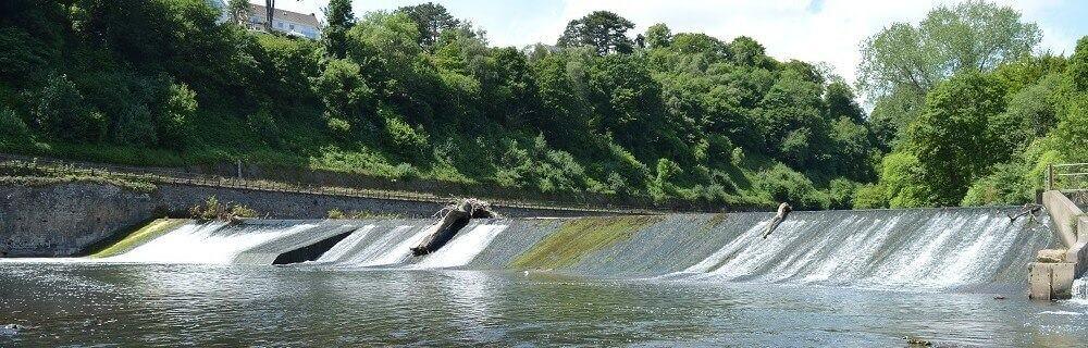 Radyr Weir hydro 400 kW Archimedes screws