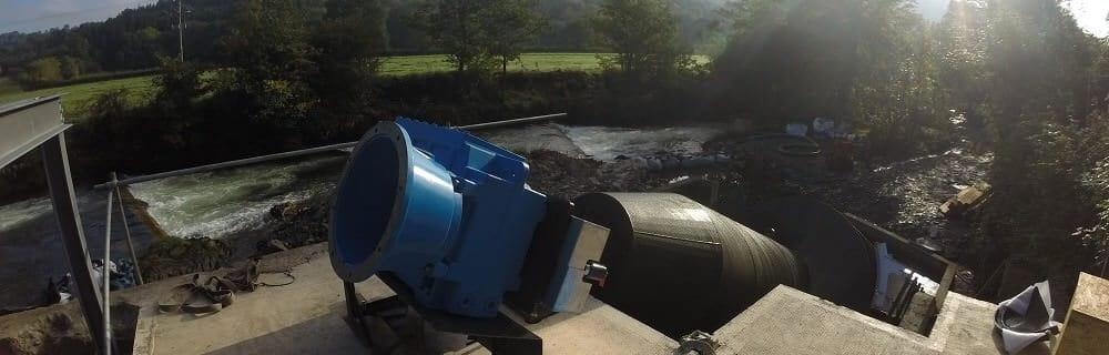 Dulverton hydro – 78 kW Archimedes screw