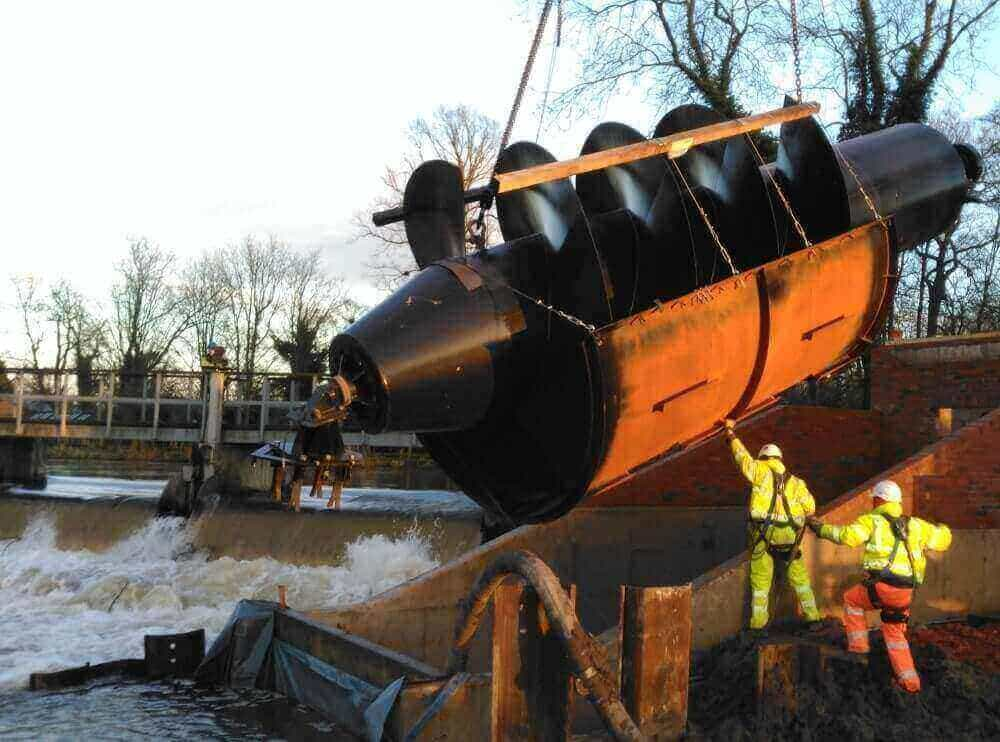 Shenfield Mill Archimedes screw - Renewables First