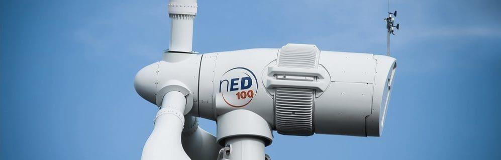 Norvento nED 100 turbine at Pembrokeshire site